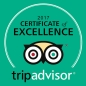 Certificate of Excellence from TripAdvisor!